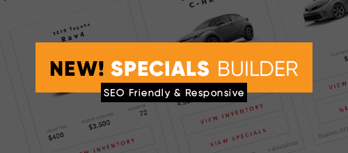 Specials Builder is Here